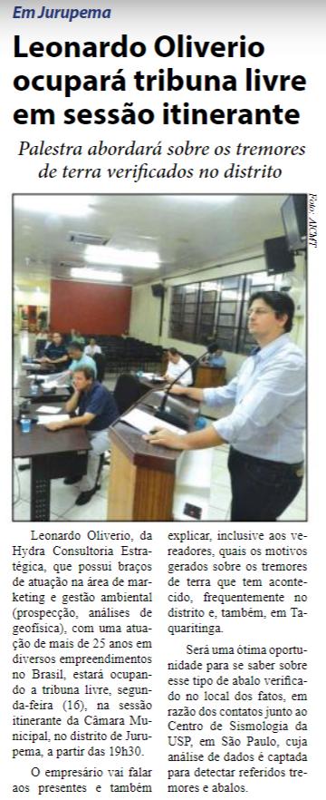 Reprodução Jornal O Defensor - 13/05/2016