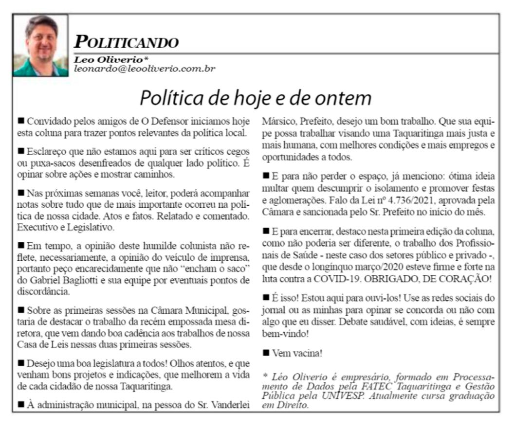 Politicando Ed. 1